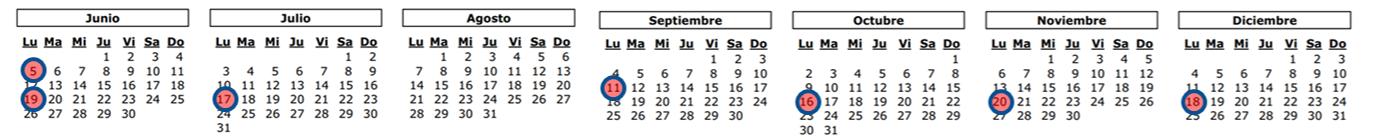 calendario programas