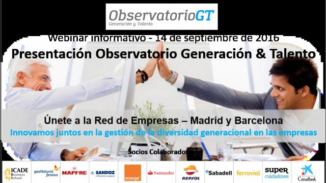 Webinar Sesión Informativa – Red de Empresas Observatorio Generación & Talento